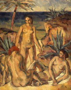 Karl Caspar: Frauen am Meer (1914)