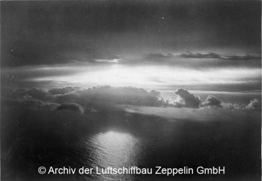 Der Blick vom Zeppelin aus