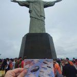 Vor der Christusstatue in Rio de Janeiro