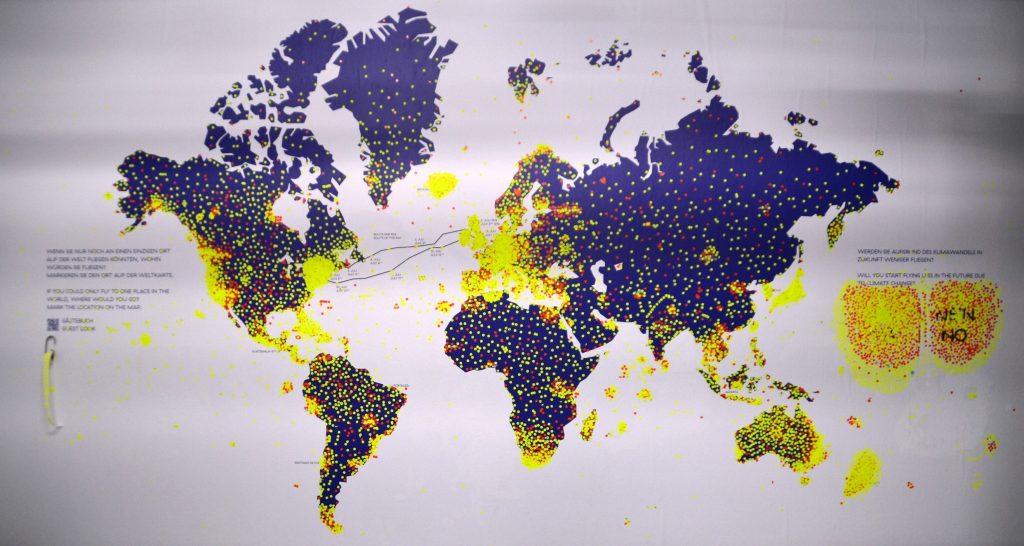 Die Weltkarte nach der Schließzeit