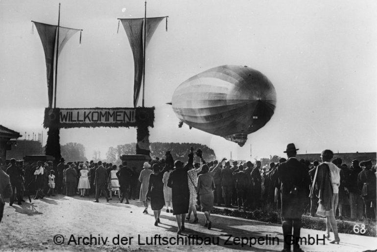 Feierlicher Empfang auf dem Werftgelände in Friedrichshafen